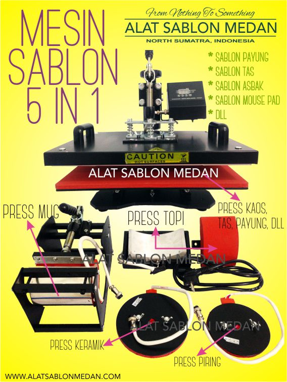 MESIN SABLON 5 IN 1