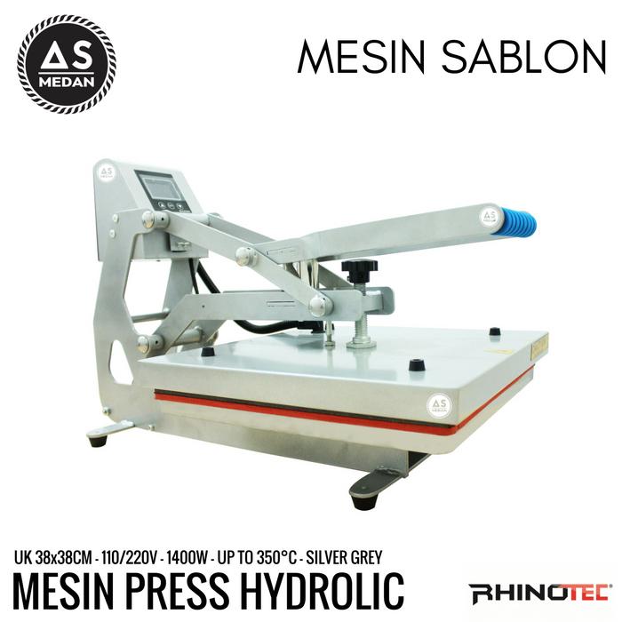 Mesin heat press kaos hidrolik